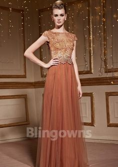 Floor Length Tulle A-line Jewel Sleeveless Embroidery Zipper Homecoming / Prom Dresses Cheap Homecoming Dresses, Mermaid Dresses, Tulle, Floor, Zipper, Jewels, Embroidery, Formal Dresses, Fashion
