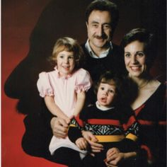 80's Family. My family. Nice Silhouette Dad