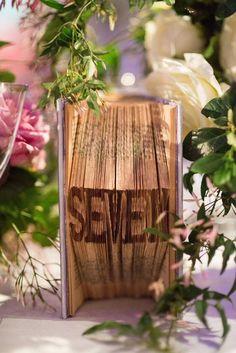 wedding table number idea; photo: Heather Waraksa