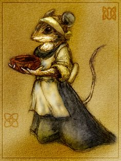 Warrior's Maiden by spydaman on DeviantArt (Cornflower Fieldmouse)