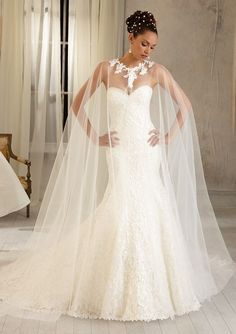 ML Accessories - 11055 - All Dressed Up, Bridal Cape