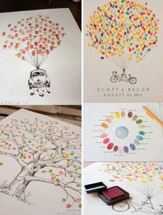 Fingerprint guestbooks' all the rave lately. And there are so many options! So get creative.