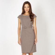 Cutesy Beige Work Dresses