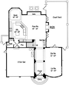 House Plans With Rotunda besides House Plans With Front Courtyards also Mediterranean Custom Home Plans in addition My Favorite House Plans likewise Adobe Home Design With Interior Courtyard. on tuscan home design in arizona