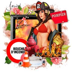 Délire2scrap Tutorials: FTU - Sexy FireFighter