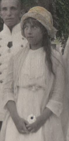 This photograph shows the Grand Duchess Anastasia, youngest daughter of Tsar…