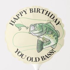Shop Happy Retirement You Old Bass Fisherman Balloon created by Fishing_Hunting_Life. Happy Birthday Wishes Cards, Happy Birthday Celebration, Happy 30th Birthday, Happy Birthday Pictures, Masculine Birthday Cards, Birthday Messages, Masculine Cards, Birthday Cake, Happy Birthday Fisherman