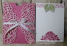 Stamp & Scrap with Frenchie: Frenchie's Live 3 Different fold and Valentine bag, So Detailed Thinlits, Floral Phrases