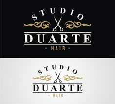 Projeto de logotipo desenvolvido para Studio Duarte Hair