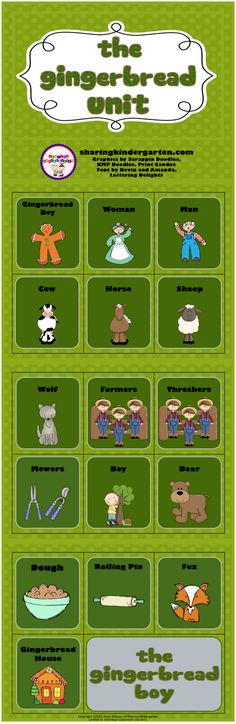 gingerbread man and boy sequencing freebie