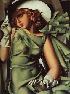 Tamara de Lempicka, Girl with Gloves, c. 1927-1930