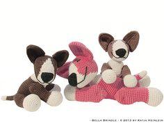 amigurumi dog bull terrier Bella Brindle PDF crochet by designshop