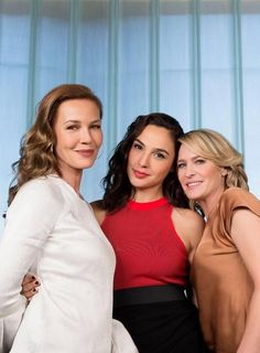 Connie Nielsen, Gal Gadot and Robin Wright