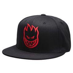 ca7bf2a1729 Spitfire Cap Firehead snapback black red black Beanie Hats