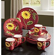 Colorful dinnerware sets from casual to formal. Favorite designs of rooster or apple dinnerware sets. Kitchen Themes, Kitchen Colors, Kitchen Ideas, Cow Kitchen, Kitchen Stuff, Kitchen Chandelier, Chandelier Ideas, Rooster Plates, Sunflowers And Roses