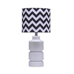 This lamp is a little bit quirky, added with the staple chevron lampshade to tie in with the blacks in the room, I think I would have one each by either side of the bed. #PinToWin #AnthropologieEU