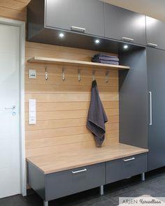 Sauna Design, Spa Rooms, Pretty Room, Home Spa, Laundry In Bathroom, Mudroom, Home Organization, My Dream Home, Building A House