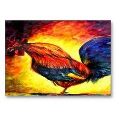 Las tarjeta personal (Rooster) de comercio del arte Discusión