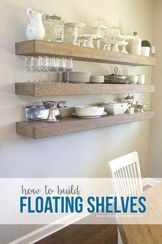Cómo construir ESTANTES FLOTANTES SIMPLES (... para cualquier habitación de la casa!)    a través de Make It y me encanta