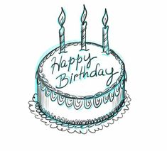 birthday draw cake card cards drawings own drawing easy pencil greeting step bday happy sketches things birtday wishes simple drawn