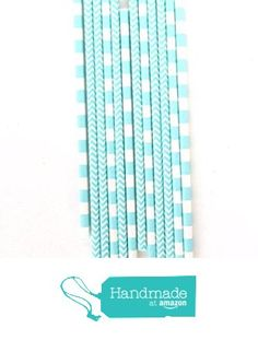 Shabby Chic 1st Birthday, Blue Chevron, Party In A Box, Straws, Baby Blue, Biodegradable Products, Light Blue, Amazon, Handmade