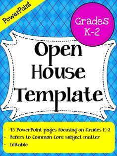 Back To School Night Open House Point Presentation Grades K 2