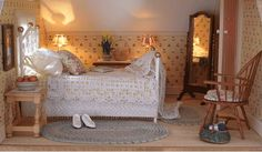 this is a miniature...but, wouldn't this be perfect in a farmhouse bedroom?
