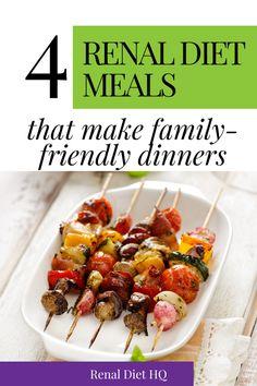 Diet Dinner Recipes, Diet Meals, Diet Recipes, Kidney Recipes, Healthy Kidney Diet, Healthy Eating Habits, Kidney Health, Health Diet, Diet