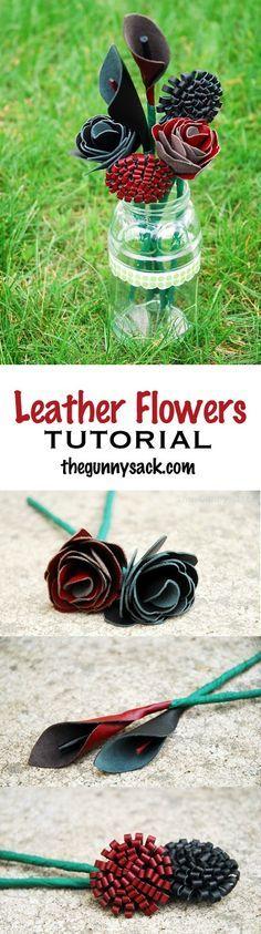 Leather Flowers Tuto