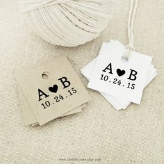 """Favor Tag, Little Black Heart, Text Editable Printable, Small 1.5 x 1.5"""" Square Tags, Gift Tag, Thank You Tag, Wedding Tags"""