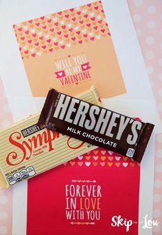 printable candy bar wrapper supplies