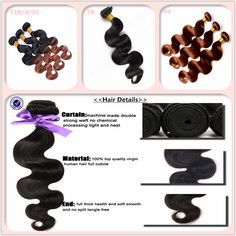 Body wave hair weft with natural hair material, with tangle free and sheeding free. healthy and beatiful for wearing.