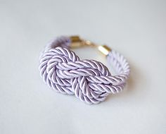 For my bridesmaids  Lavander Wedding Nautical Knot Rope with sailor knot by pardes