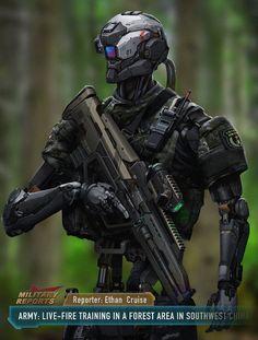 Military robot, S Yang