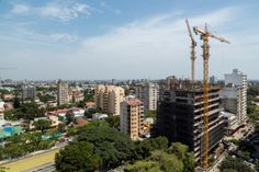 Maputo central business district under construction