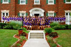 AXO group picture. Maybe in front of new student union when finished