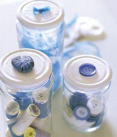 reciclado de tarros: organizador de costura