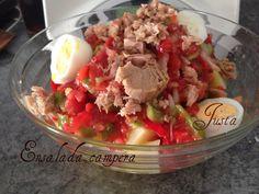 ENSALADA CAMPERA -Thermomix Fresco, Cocina Light, Potato Salad, Ethnic Recipes, Food, Potatoes, Tasty, Fresh, Essen