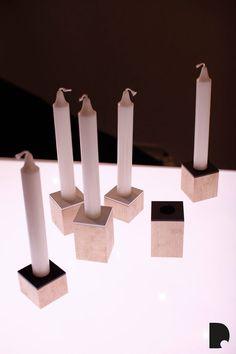 Domino. candle holders in Imm Gologne design fair January 2014. www.dsgnsquare.com/domino www.facebook.com/designdomino