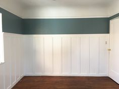 DIY Paneling: a way that you can bring in color without having to commit to a big floor to ceiling, all four walls, type of thing. Just that band of color adds so much life, without being overwhelming.