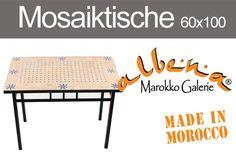 Rechteckige Mosaiktische aus Marokko. 60x100cm www.albena-shop.de