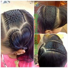 Beautiful braids and basket weave Little Girl Hairstyles, Cute Hairstyles, Braided Hairstyles, Peinado Updo, Natural Hair Styles, Long Hair Styles, Beautiful Braids, Unique Braids, Toddler Hair