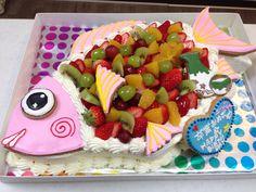 鯛のケーキ Big Cakes, Fruit Salad, Food, Meal, Tall Cakes, Eten, Fruit Salads, Meals