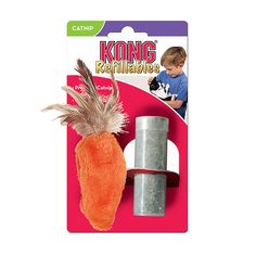KONG Feather Top Carrot Catnip Toy, Cat Toy, Orange >>> Find out more details by clicking the image : Cat toys