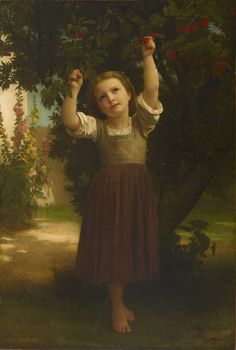 William-Adolphe Bouguereau - The Cherry Picker
