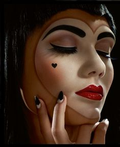 Heartwork Mime makeup for ADH fundraiser flower cart