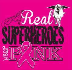 Superheroes Pink Breast Cancer Support Shirt by WhitefishCreations, $23.00
