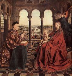 """En enlosado geométrico de """"La Virgen del Canciller Rolin""""(1435), de Jan van Eyck. Matemáticas y Arte."""
