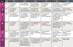 Triathlon training schedule in 6 weeks