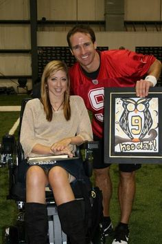 """I loooove me some Drew Brees - she said she would give him the """"hoo dat!"""" owl one day - there she is! You inspire me to keep pushing on, Katy :)"""